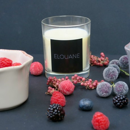 Bougie Parfumée - Senteur Gourmande -  Fruits Rouges by Elouane