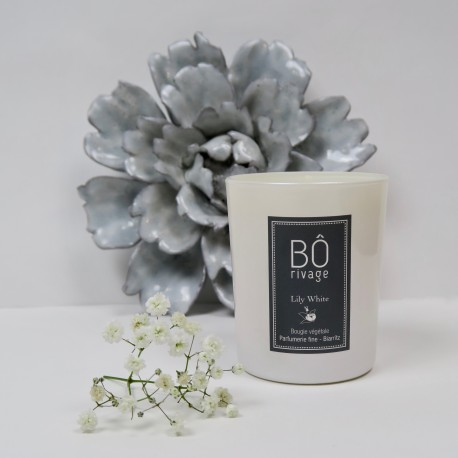 BOUGIE PARFUMEE LILY WHITE BÔRIVAGE Accueil